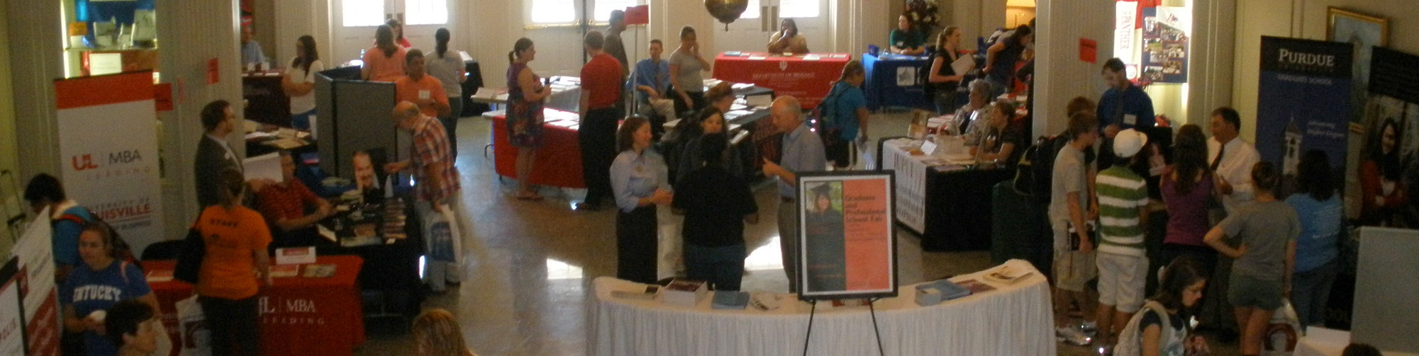 Photo of the annual grad school fair.