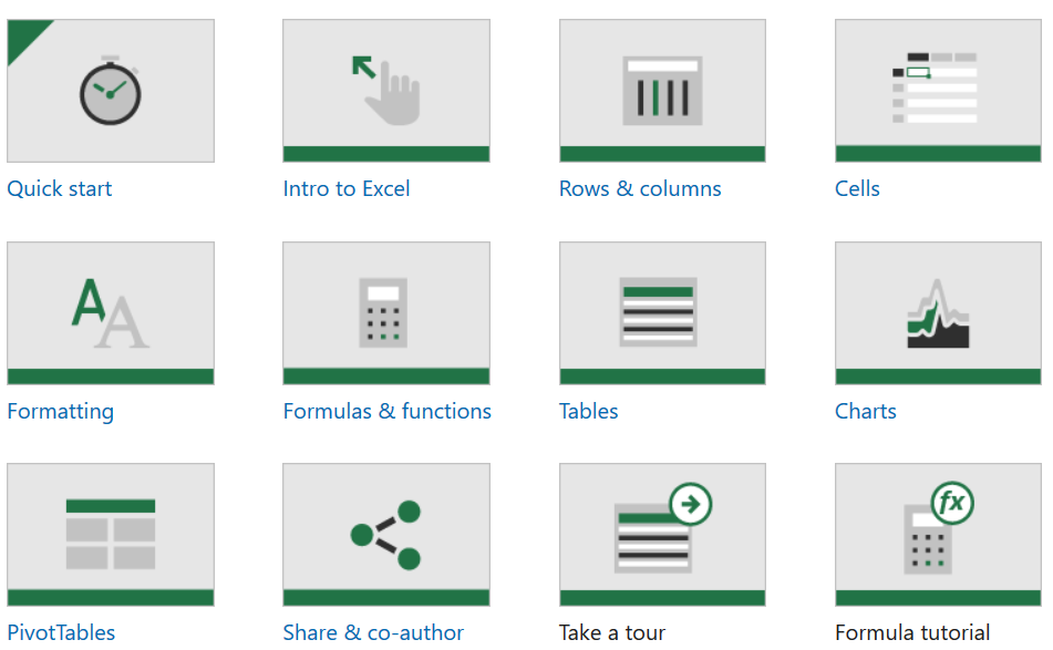 MS Excel training options