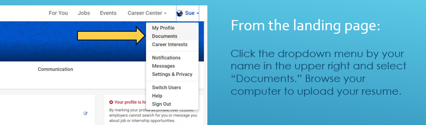 Location of document upload function.