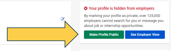 photo of the landing page's public profile option